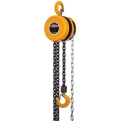 New 1 Ton Extra Long Lift Manual Chain Hoist 16 Ft Chain - Free Fedex From Usa