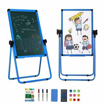 18 X 24 U-stand Magnetic Dry Erase White Board Height Adjustable Foldable Blue