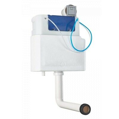 Slimline Pneumatic Air Concealed Dual Flush WC Toilet Cistern Square Push Button