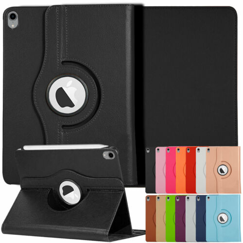 "For iPad Pro 12.9"" 11"" 10.5"" 2018 Rotating Leather Folding S"
