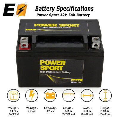 Brand New Replacement For YTX7A-BS Go Cart Moped ATV Scooter 12V 7AH Battery