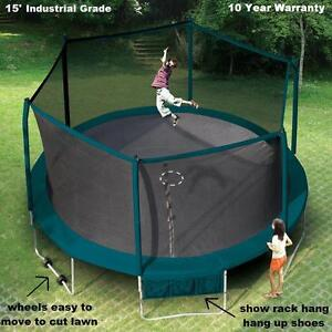 Sale Industrial Grade 15' Trampoline & Safety Netting
