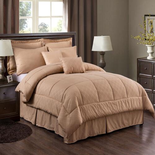 10 Piece Bed In A Bag Comforter Set Hotel Plaid Embossed Comforter Set