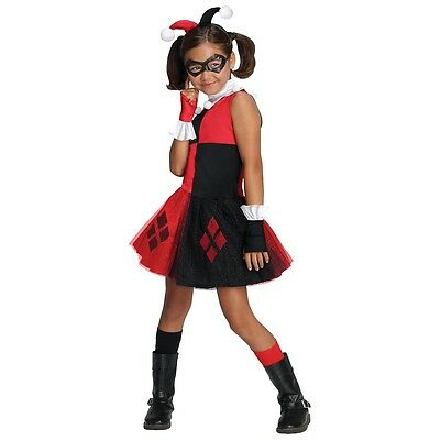 Harley Quinn Costume for Kids & Toddler Female Villain Halloween Fancy Dress (Halloween Costume For Toddler)