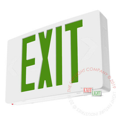 Green Led Emergency Exit Light Sign - Standard Ac Only Ul924 Fire Code - Ledgac