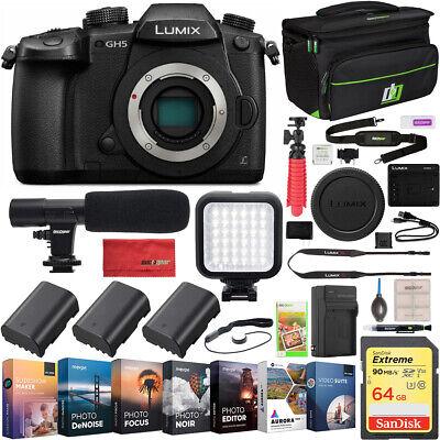 Panasonic LUMIX DC-GH5 Mirrorless 4K Video Digital Camera Body Essential Bundle
