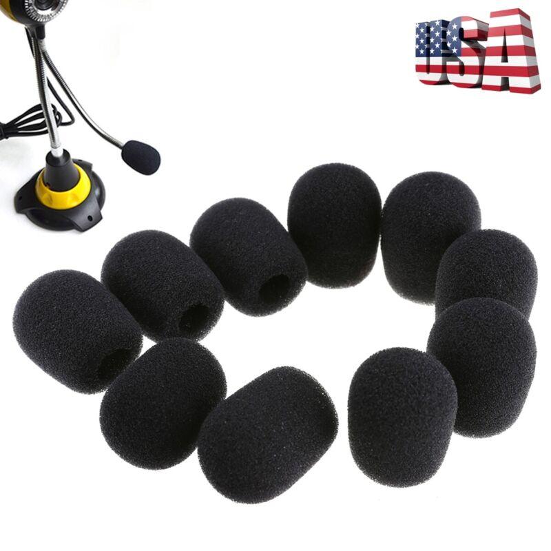 10Pcs Mini Microphone Headset Windscreen Sponge Foam Mic Cov