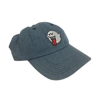 (Ghost Boo Blue Denim Hat Baseball Cap Super Mario Bros Dad Buckle Teresa Gift)
