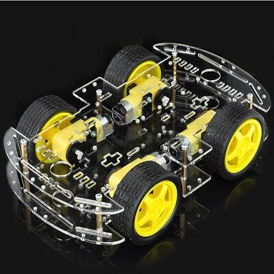 4WD Robot Motor Smart Car Auto Chassis Roboter Kit Speed Encoder für Arduino Encoder Kit