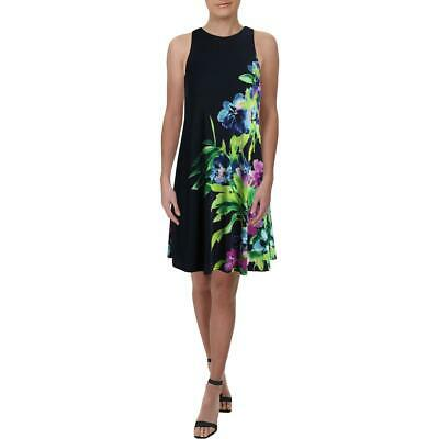 Lauren Ralph Lauren Womens Navy Sleeveless Special Occasion Dress 8 BHFO 2574