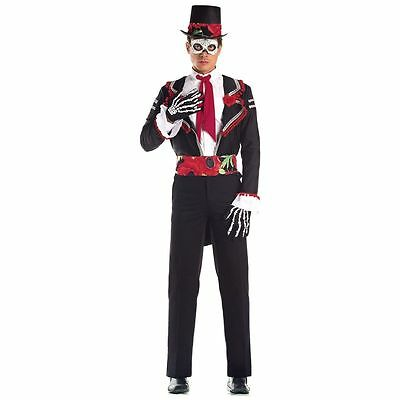 Day of the Dead Senor Costume WITH HAT for Men size S/M (36-40
