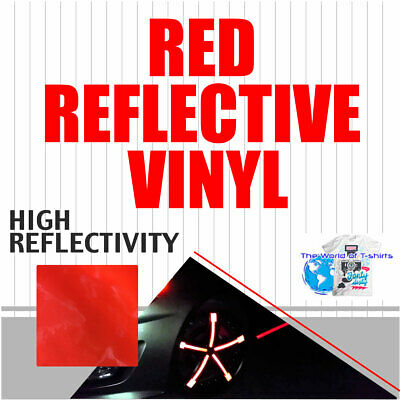 Reflective Red Sign Vinyl Adhesive Safety Plotter Cutter 12x10ft