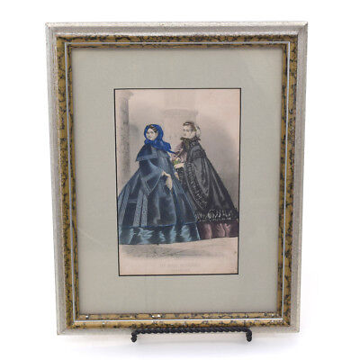 Illman Brothers Les Modes Parisiennes December 1860 Style Engraving Print Framed