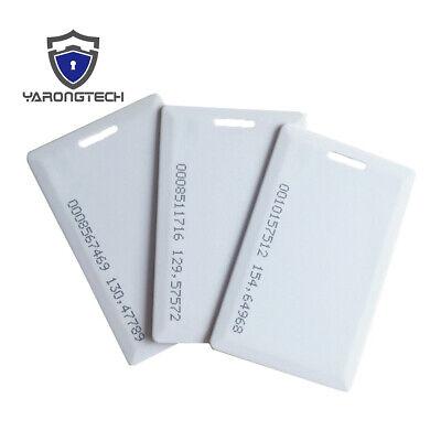 125khz Em4100 Rfid Proximity Plastic Id Cardsem Clamshell Thick Card -10pcs