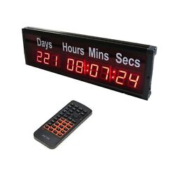 1.8'' Large LED Countdown Day Wall Clock For World Cup Olympic Sport Events