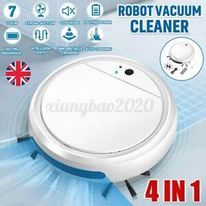 4-In-1 Automatic Robotic Vacuum Cleaner Quiet Floor Sweeper Carpet Cleaner UK