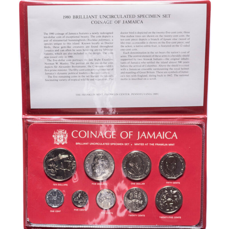 1980 Jamaica 9-Coin Uncirculated Specimen Set
