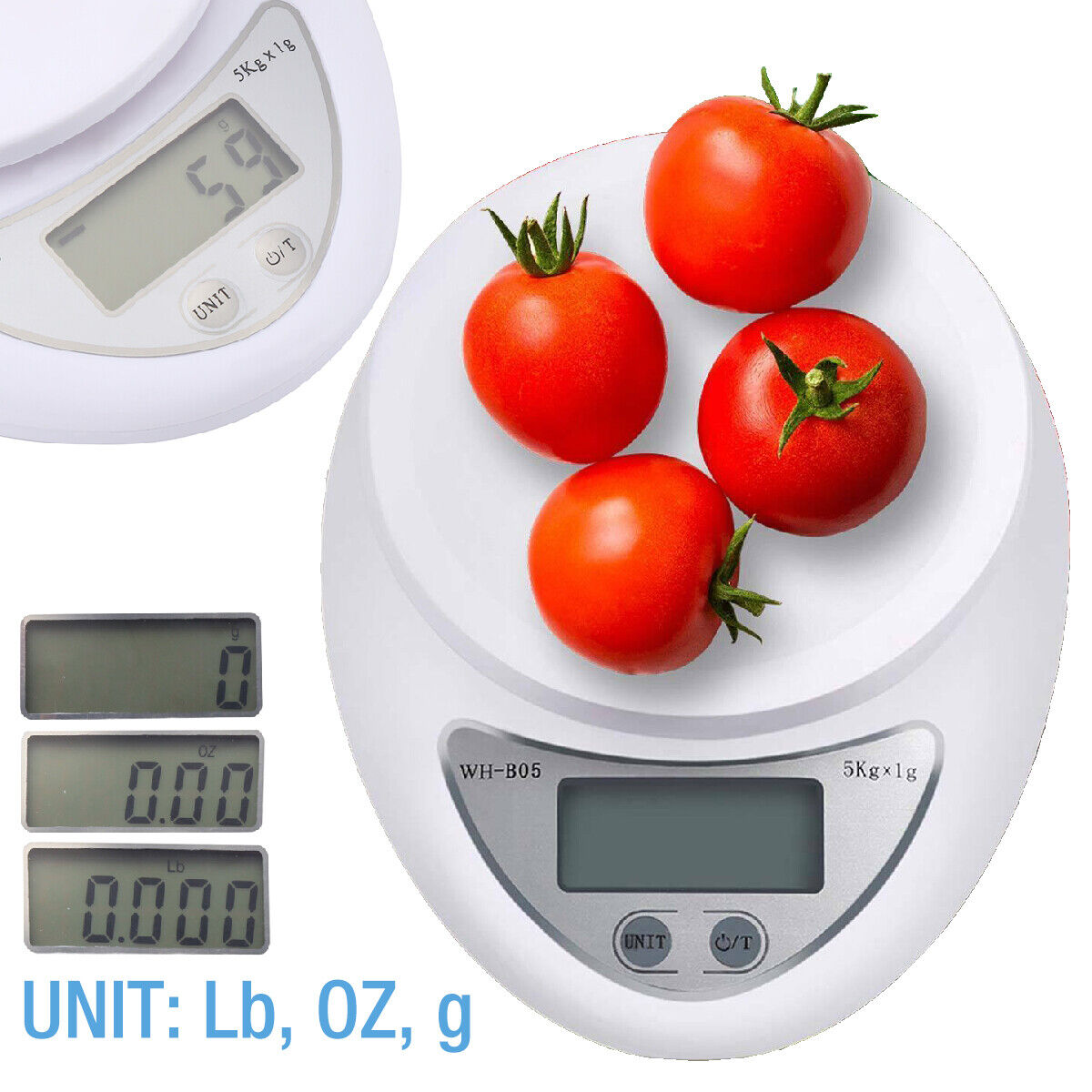 Digital Kitchen Food Cooking Scale Weigh in Pounds, Grams, O