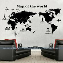 Wall Sticker- Removable Map Of The World. Living, Child Boy Room Baldivis Rockingham Area Preview