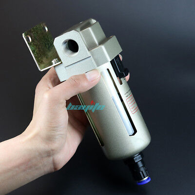 "140CFM Air Compressor In Line Moisture Water Filter Trap Auto Drain Tool 1/2"" US"