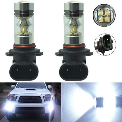 2x H10 9145 100W High Power CREE LED Fog Light Bulb 6000K HID White Driving Lamp