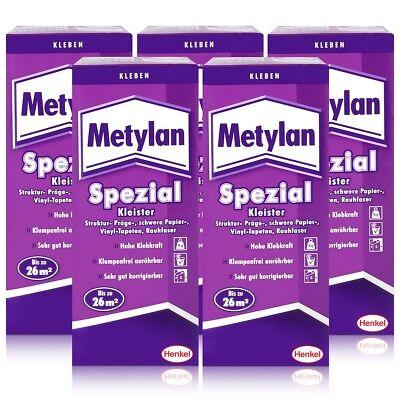 Henkel Metylan Spezial Tapetenkleister mit extra Power 200g ( 5er Pack )