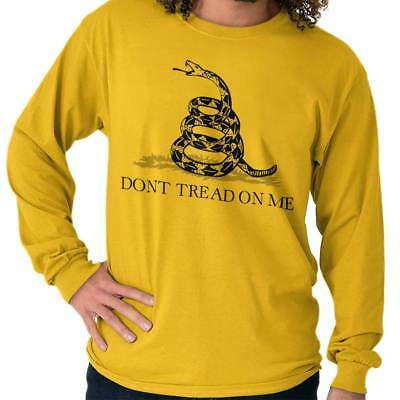 Dont Tread on Me Gadsden Flag Tea Party Political Novelty Tee Long Sleeve Tee ()