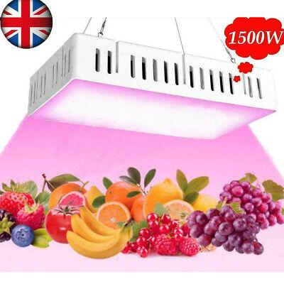 Full Spectrum 1500W LED Grow Light For Hydroponic Veg Flower Plant Lamp Panel