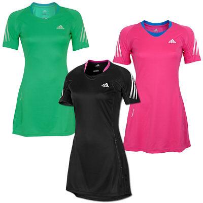 Tennis Kleider (adidas MiTTennium Dress Climalite Formotion Tischtennis Kleid schwarz grün pink)