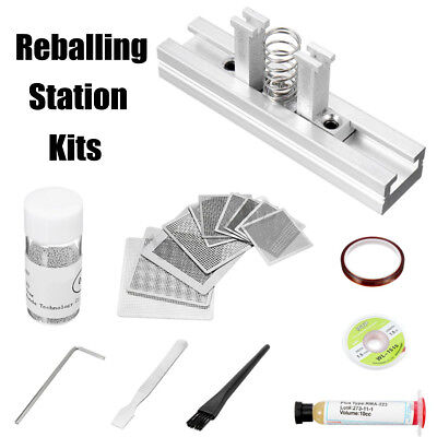 Bga Reballing Station 10x Steel Template Stencils 0.6mm Solder Balls Kits
