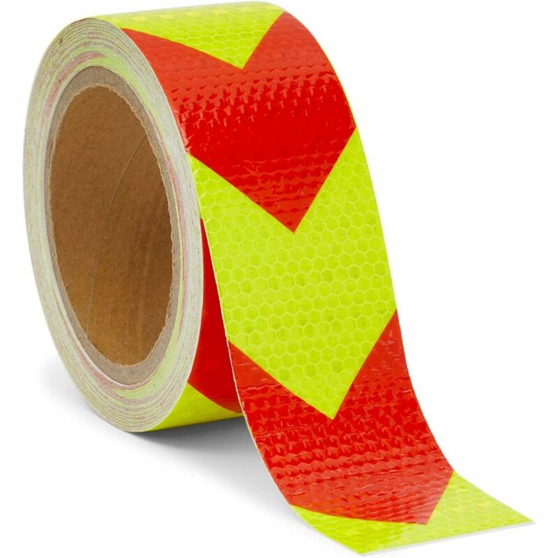 Waterproof Reflective Safety Tape for Trailers, Yellow and Red (2 in x 30 Ft)