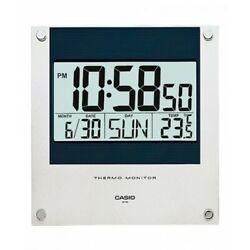 New Casio ID11S-2D Digital Wall Clock/ Thermometer/ 12-24 hrs Format/ Full Auto