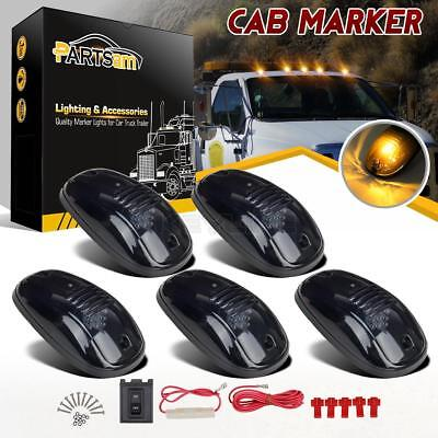Smoke 5pcs Set 9-LED Cab Roof Running Marker Lights fit Truck SUV Off Road