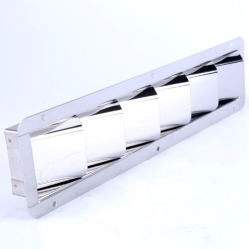 """Amarine-made 6 Louver 12-7/8 X 3"""" Vent Stainless Steel Boat Marine FREE SHIP"""