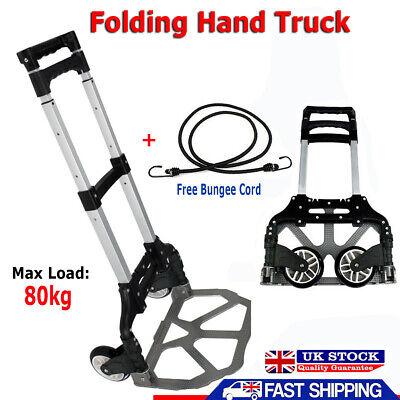80KG Heavy Duty Folding Truck Hand Sack Trolley Barrow Cart Platform Truck BO