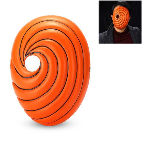 Naruto Akatsuki Tobi Uchiha Obito Costume Resin Mask Helmet fo Halloween Cosplay