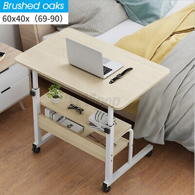 Adjustable Height Home Office Computer Table PC Laptop Desk Workstation W/ Wheel
