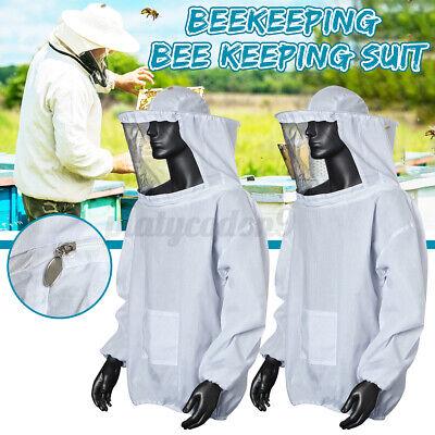 2x Beekeeping Jacket Bee Keeping Suit Pull Over Hat Sleeve Veil Smock