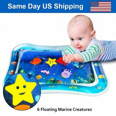 Inflatable Baby Tummy Pad Kids Summer Play Water Mat Infants Toddlers BPA Free