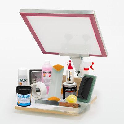 Siebdruckmaschine Set Kit inkl.Siebdruck Bildschirm Rahmen Für DIY Drucker