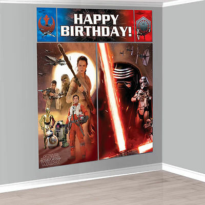 STAR WARS WALL BANNER DECORATING KIT (5pc) ~ Birthday Party - Star Wars Birthday Banner