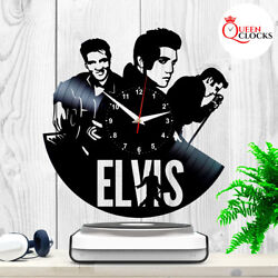 Elvis Presley LP Vinyl Record Wall Clock Collection Gift for Men Birthday Decor