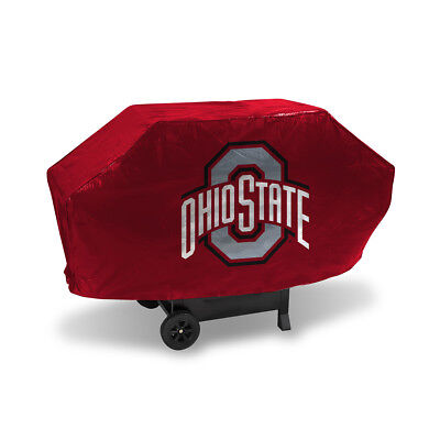 Ohio State Buckeyes NCAA DELUXE Heavy Duty BBQ Barbeque Grill Cover ()