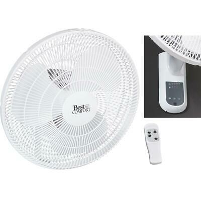 Best Comfort 16 In. 3-Speed White Oscillating Wall-Mount Fan 15258-R PG  - (Best Wall Mount Oscillating Fan)