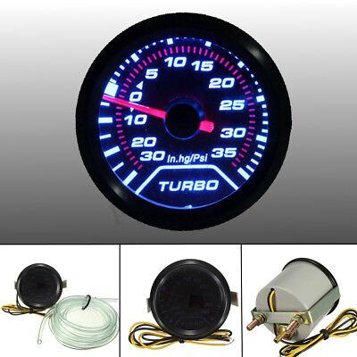 - 52mm 2″ LED Turbo Boost Press Pressure Vacuum Gauge Meter PSI Smoke Face Tint