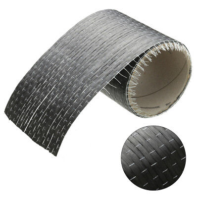 """12K 200gsm Real Carbon Fiber Fabric Cloth Tape UNI-Directional Weave 4"""" x 72"""""""