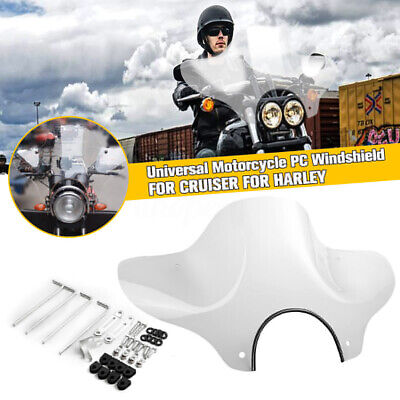 Clear Universal Motorcycle PC Windshield Windscreen Mounting Kit For Harley