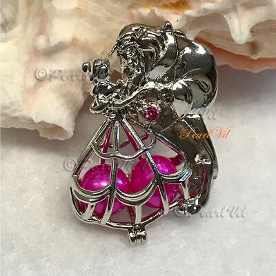 Last Dance Beauty And The Beast Pearl Cage Pendant - Located USA