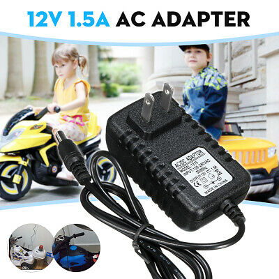 12V 1A Battery Charger Adapter For Kids ATV Quad Ride On Car