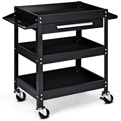 Three Tray Rolling Tool Cart Mechanic Cabinet Storage Organi